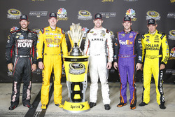 Toyota Chase drivers: Martin Truex Jr., Furniture Row Racing, Kyle Busch, Joe Gibbs Racing, Carl Edwards, Joe Gibbs Racing, Denny Hamlin, Joe Gibbs Racing, Matt Kenseth, Joe Gibbs Racing