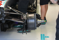 Mercedes AMG F1 W07 Hybrid, detail front wing