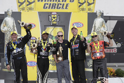 Funny Car-Sieger John Force; Top Fuel-Sieger Antron Brown; Pro Stock-Sieger Jason Line; Pro Stock Bike-Sieger Chip Ellis