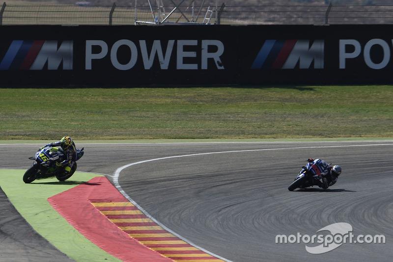 Valentino Rossi, Yamaha Factory Racing e Jorge Lorenzo, Yamaha Factory Racing