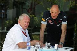(L to R): Dr Helmut Marko, Red Bull Motorsport Consultant with Franz Tost, Scuderia Toro Rosso Team Principal
