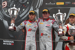 Podium: race winners #33 Belgian Audi Club Team WRT Audi R8 LMS: Enzo Ide, Robin Frijns