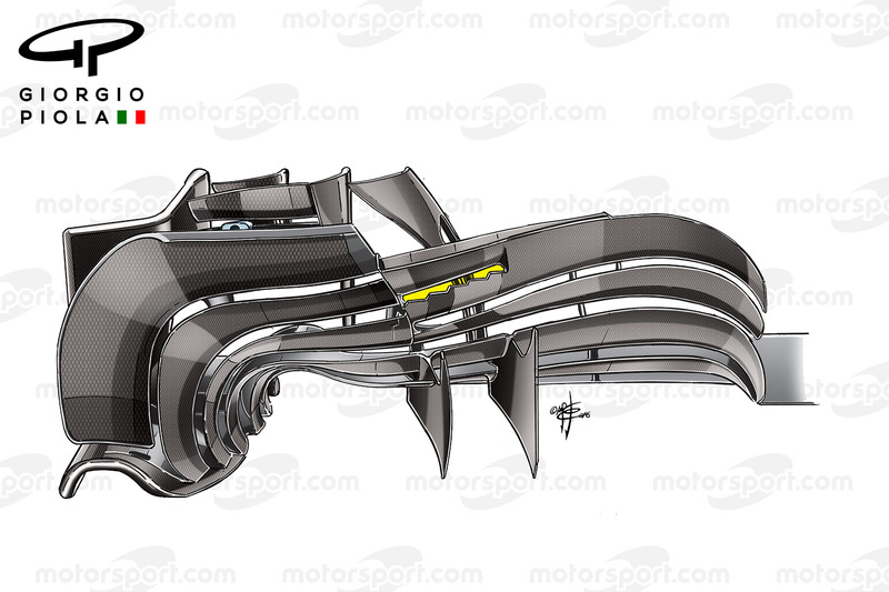 Williams FW38, alerón modificado