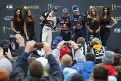 Podium: Sieger Sébastien Loeb, Team Peugeot Hansen; 2. Mattias Ekström, EKS RX; 3. Timmy Hansen, Team Peugeot Hansen