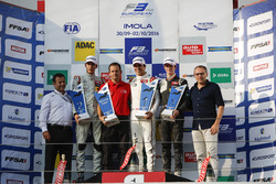 Podium: Race winner Lance Stroll, Prema Powerteam Dallara F312 – Mercedes-Benz, second place George Russell, HitechGP Dallara F312 – Mercedes-Benz, third place Callum Ilott, Van Amersfoort Racing Dallara F312 – Mercedes-Benz