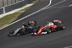Sergio Pérez, Sahara Force India F1 VJM09, Kimi Raikkonen, Ferrari SF16-H