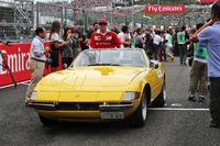 Kimi Raikkonen (FIN) Ferrari on the drivers parade