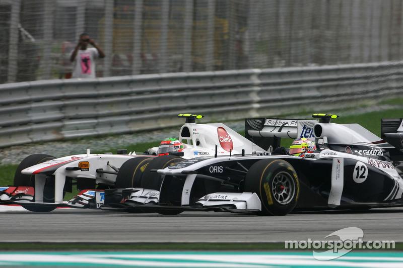 Sergio Pérez, Sauber F1 Team y Pastor Maldonado, Williams F1 Team
