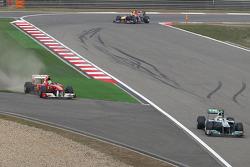 Nico Rosberg, Mercedes GP and Felipe Massa, Scuderia Ferrari
