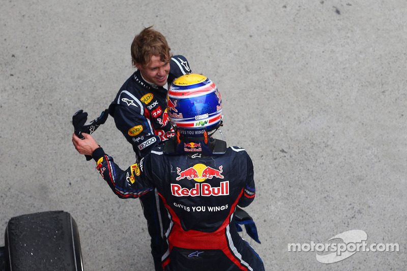 2. Sebastian Vettel, Red Bull Racing ve 3. Mark Webber, Red Bull Racing