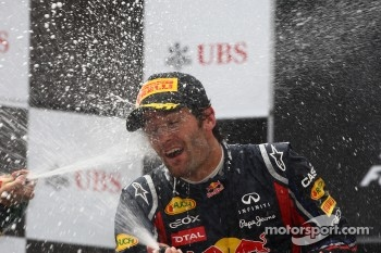 Podium for Webber despite 18th place on the start grid