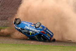 Jason Plato, Silverline Chevrolet Donington barrel roll
