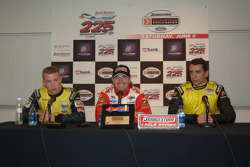 Press conference: pole winner Jimmy Vasser with A.J. Allmendinger and Justin Wilson