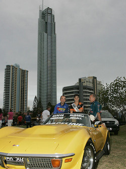 Drivers parade: Marcos Ambrose and Russell Ingall