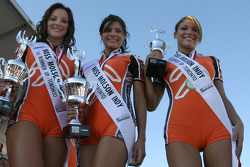 The Miss Molson Indy 2005 top-three finishers