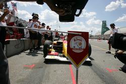 Cameras wait for pole winner Sébastien Bourdais