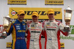 Round 7 podium 1st Gordon Shedden, 2nd Matt Neal, 3rd Andrew Jordan