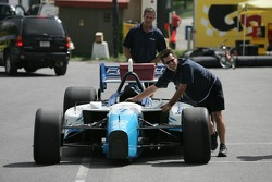 Forsythe Racing crew members back from tech inspection