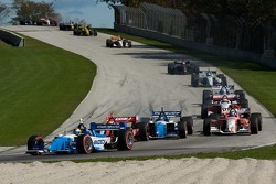 A.J. Allmendinger leads a group of cars