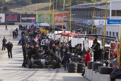 Champ Car pitlane open
