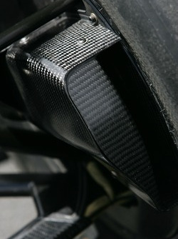 Detail of the Forsythe Racing car