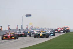 The start: Sébastien Bourdais takes the lead