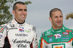 IndyCar Series 2007 Championship contenders Dario Franchitti and Tony Kanaan pose during a photo shoot on Navy Pier in Chicago