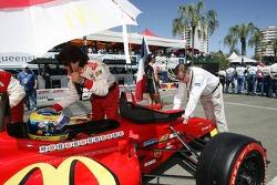 Sébastien Bourdais (Newman/ Haas/ Lanigan Racing) and Carl Haas