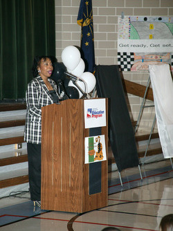 500 Festival and Indy 500 Education program presentation at Crooked Creek Elementary