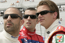 Tony Kanaan, Dario Franchitti and Dan Wheldon