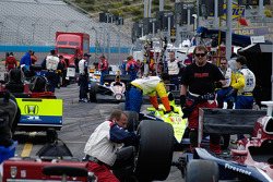 Pre-race pit work
