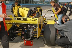The Panther team sets up the car