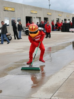 Firestone Firehawk offers a helping hand in clearing the water from Gasoline Alley