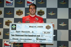 Fastest of the day Sam Hornish Jr.