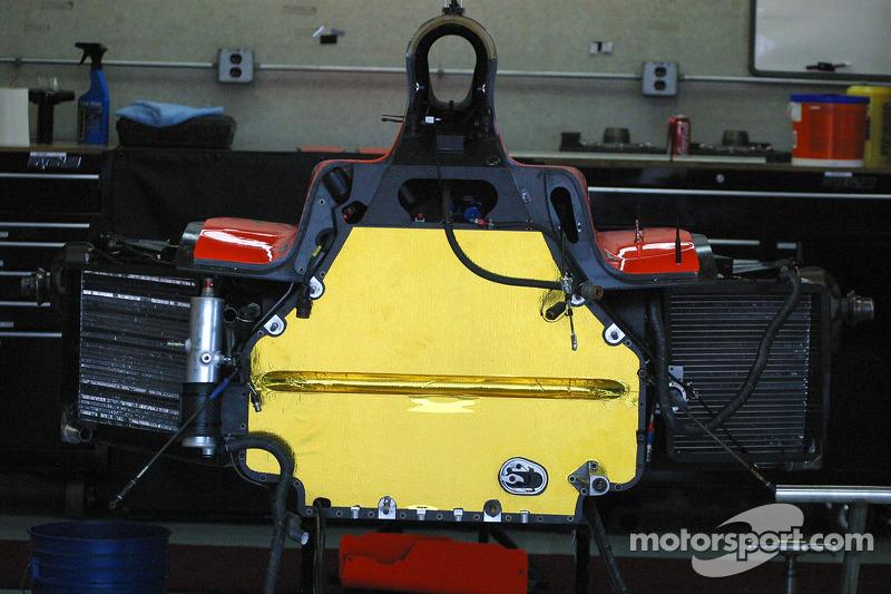 La voiture Indy est prête pour un moteur