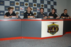 Andretti Green Racing drivers Marco Andretti, Tony Kanaan, Michael Andretti, Bryan Herta, Dario Franchitti