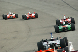Sam Hornish Jr. and Helio Castroneves lead the field