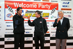 Welcome party: Tony George and Dan Wheldon