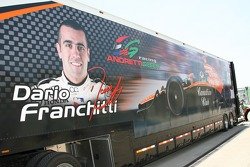 Transporter of Dario Franchitti