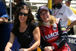 Sarah Fisher with Michell Rice