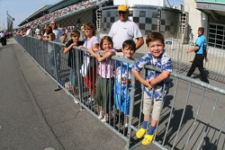 Young fans at Indy