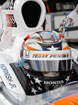 Sam Hornish Jr. in the qualifying mode