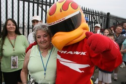 Firestone Firehawk poses with fans