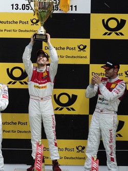 Podium: Mike Rockenfeller, Audi Sport Team Abt Sportsline Audi A4 DTM, Martin Tomczyk, Audi Sport Team Phoenix Audi A4 DTM