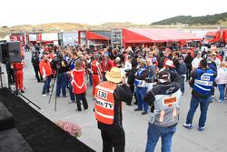 Post-race ceremonies and celebration for 2011 Ferrari Racing Days at Mazda Raceway Laguna Seca