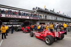 Target Chip Ganassi Racing of Dario Franchitti heads to pitlane