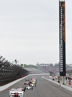 The field under the first caution