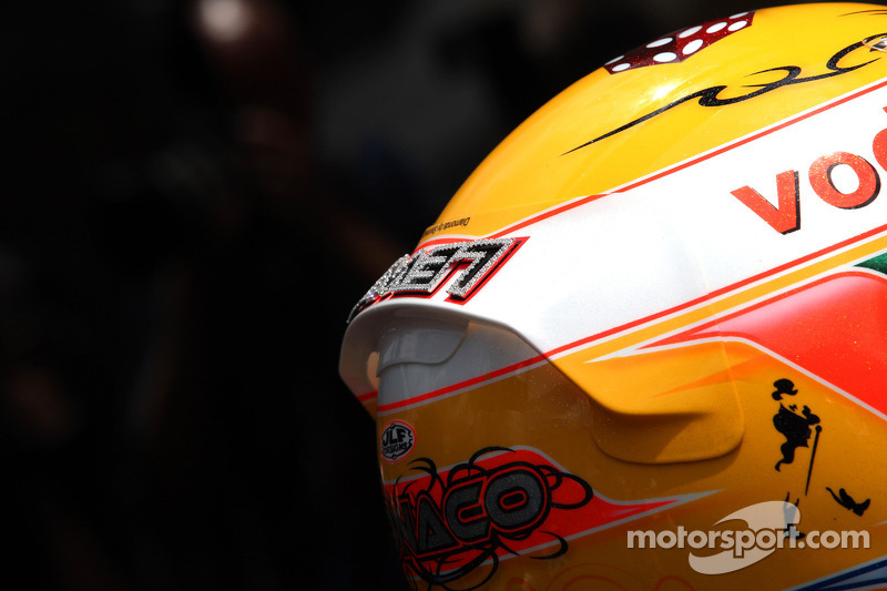 Casco de Lewis Hamilton, McLaren Mercedes con Diamantes Steinmetz