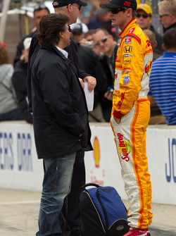 Pit stop challenge: Ryan Hunter-Reay, Andretti Autosport with Michael Andretti