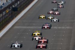 Josef Newgarden, Sam Schmidt Motorsports and Anders Krohn, Belardi Auto Racing battle for the lead